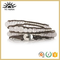 Wholesale Custom Mix Silver Crystal Bead Bracelet Bangle