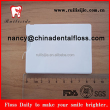 Credit card type dental flosser private logo available OEM credit style dental floss card