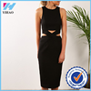 Yihao daring cut outs exposed zip-through back sleeveless prom dress evening party dresses