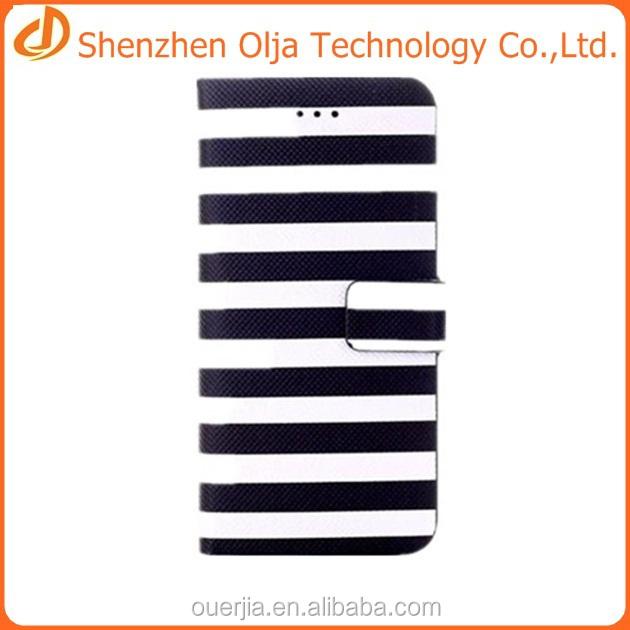 Bande colorée portefeuille housse pour iphone 6, Pour iphone 6 mobile accessoires