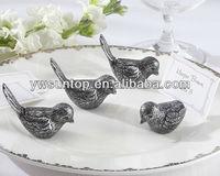 Antiqued love Bird Place Card Holder table card wedding decoration favor