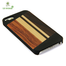Alibaba China black PC wood cover for iphone 5 5s mobile bag case