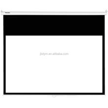 manual self-lock matte white screen/manual pull down projection screen wall mount