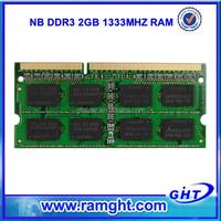 2015 cheap price 1333D3N9/2G ram 1 piece ddr3 2gb ddr 1333 laptop memory