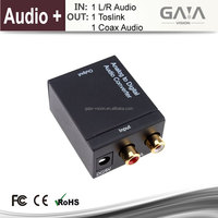 Analog to Digital Audio HDMI Converter converts analog stereo audio signal from R/L input to Coaxial and Toslink outputs