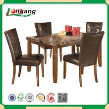 Comedor de imitación de mármol mesa / mesa de comedor de lujo y sillas y aparadores / mesa de café