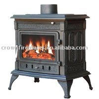 french stoves and fireplaces with boiler(JA043B)