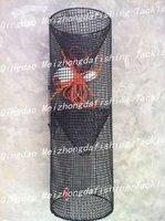 plastic coated metal wire net shrimp trap pot in cylinder shape