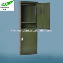 2 tier green military steel metal locker/high quality knock down clothing military steel metal locker