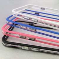 Clear Protective Bumper Case Silicone and Plastic for iPhone 6