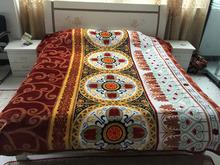 super soft flannel fleece blanket coral fleece blanket polyester blanket circle design I