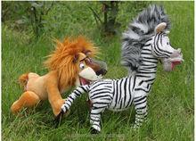 forest animal Zebra Plush Stuffed Toys on the grass
