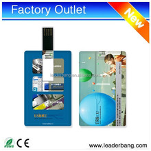 Portable credit card shaped usb flash drive with custom logo