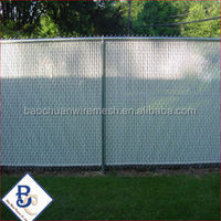 gold brand factory Green Wire Galvanized Chain Link Fence with Slats