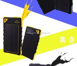 2015 Hotsale Waterproof Dual Usb Power Bank 8000mah Solar Power Bank dustproof charger
