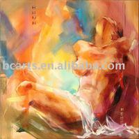 nude women oil paintings images,Hand-painted abstract art canvas wall art deco body painting, selling wholesale