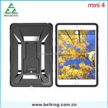 For iPad mini 4 Armor case for iPad mini / Plastic back cover for iPad mini 4 stand holder case
