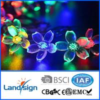 led solar garden Chinese solar flower string lamps solar Christmas light