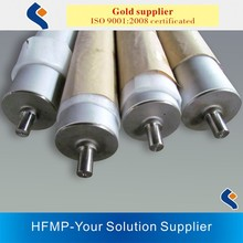 precision aluminum rollers with stainless steel shaft ends