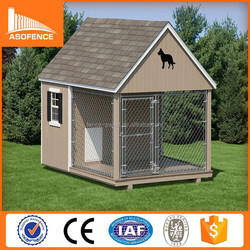 China direct factory fenced dog kennels/ durable dog kennel/ cheap dog kennels cage