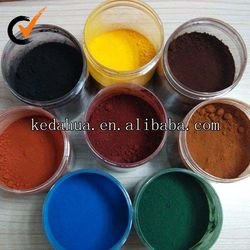 China supplier hot sale powdered pigment iron oxide red