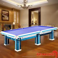 Factory price korea billiard pool table faithworthy quanlity carving 6 legs billiard table