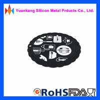 YuanKang round shaped cup mats round silicone rubber placemat round heat-resistant mat