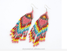 fashion mutilayer seed bead earrings,big earring hook(swtaa939)