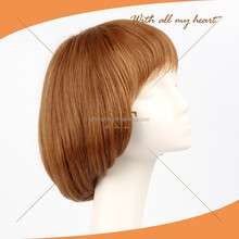Wholesale Brazilian hair real looking short blonde wig full lace wig