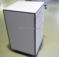 Physical and Chemical board mobile cabinet five drawer with lock