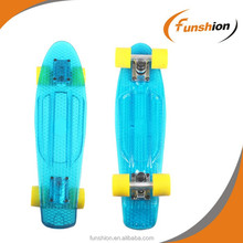PC plastic transparent penny skateboard deck with led backfire penny skateboard deck and wheels