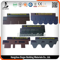 Made In China Color Asphalt Fiberglass Roofing Shingle Cost