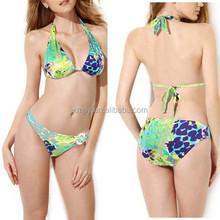 Women Fashion Halter Bikini Push Up Padded Top Bathing Suit Beachwear