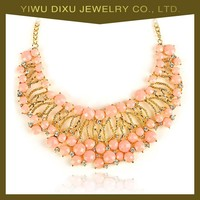 2015 fashion newest design latest jewelry pink coral bead necklace Factory price wholesale in china yiwu for women