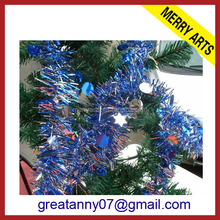 wholesale curtains party decoration blue wire tinsel 2015 new style