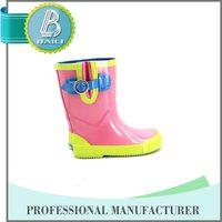 China manufacture kids white cheap rubber rain boot