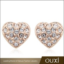 Earring Jewelry Heart made with Austrian Crystals 20253