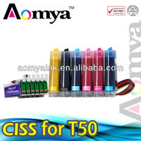 Aomya HOT SALE! ciss for epson T50 P50 R290, with auto reset chip direct from zhuhai