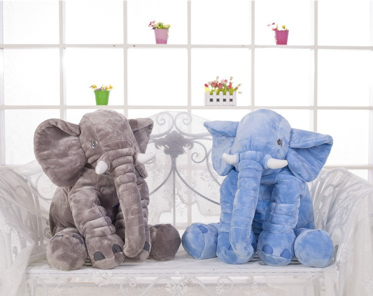 g ant l phant de couchage en peluche oreiller animaux en. Black Bedroom Furniture Sets. Home Design Ideas