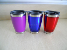 2015 Popular Color Inner Stainless Steel Outside AS Plastic ECO Friendly Coffee And Tea Mug ,Available Customize Logo
