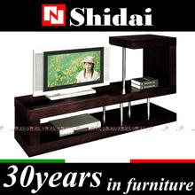 luxury tv stand veneer design / modern led tv stand / wenge veneer tv stand E-85