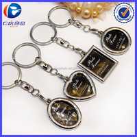 Wholesale Zinc Alloy Metal Blank Photo Frame Keychains for Promotion Gift