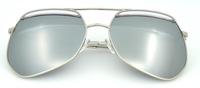 Mirror Pilot Sunglasses Custom Metal Logo