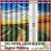 Custom Digital Printed Blackout Curtain