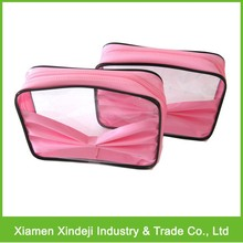 PVC Cosmetic Bags, Toiletry Bag, PVC Zipper Bag With Bow
