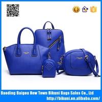 2016 New designer China high quality elegent PU leather bags set women tote bags 4 pcs women handbags set
