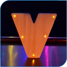 2015 Most Popular Decoration Lighted Wooden Letter For Craft