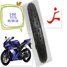 high quality profassional manufactuer 90/90-18 motorcycle tube tyres and tubeless tyres