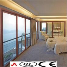 di legno di lusso vetro temperato e stratificato porta del balcone