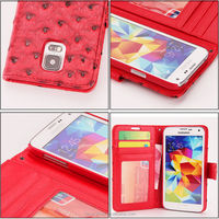 Hot Popular style High Quality For samsung galaxy S5 cover, Leather phone case For samsung galaxy S5